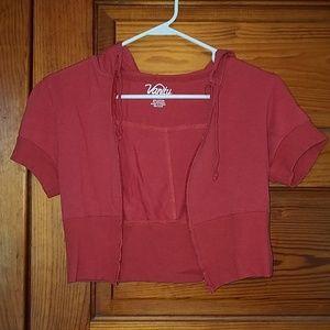 Women's crop short sleeve jacket